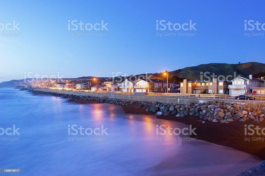 Beachfront Real Estate stock photo