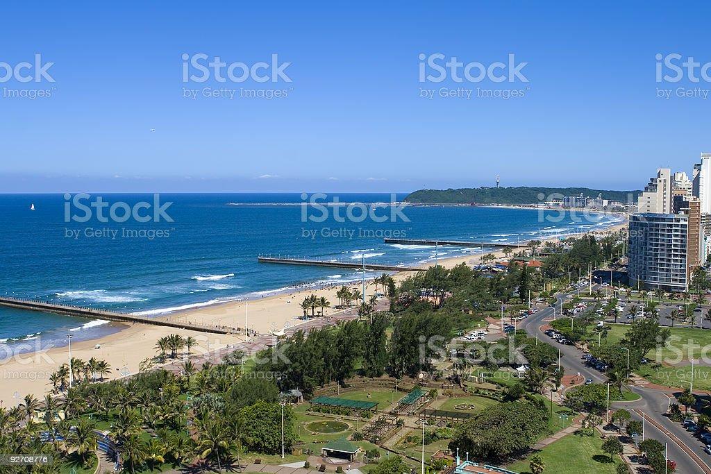 Beachfront scene stock photo