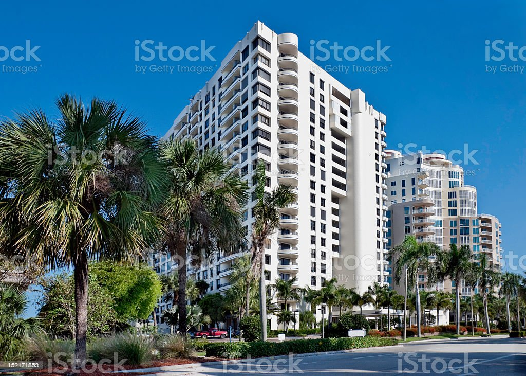 Beachfront vacation property stock photo