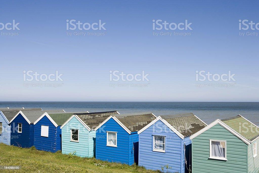 Beachhuts at Southwold. royalty-free stock photo