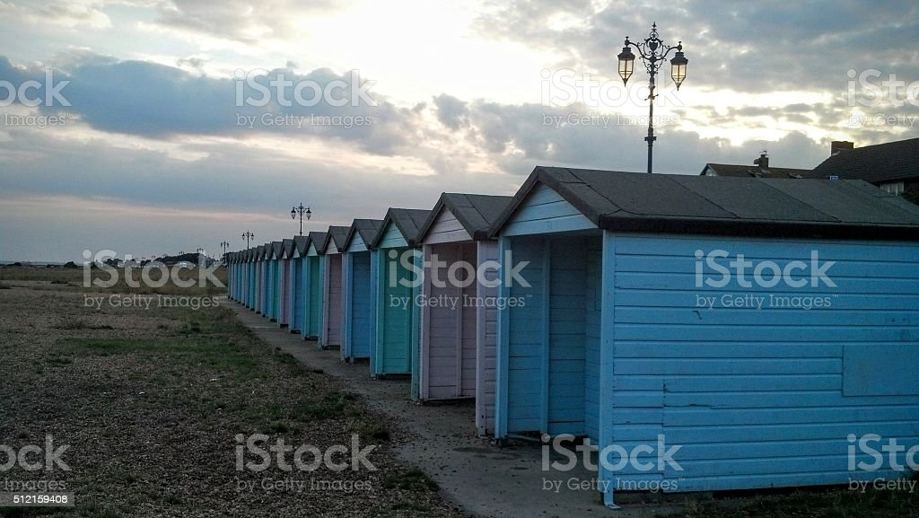 Beachhuts stock photo