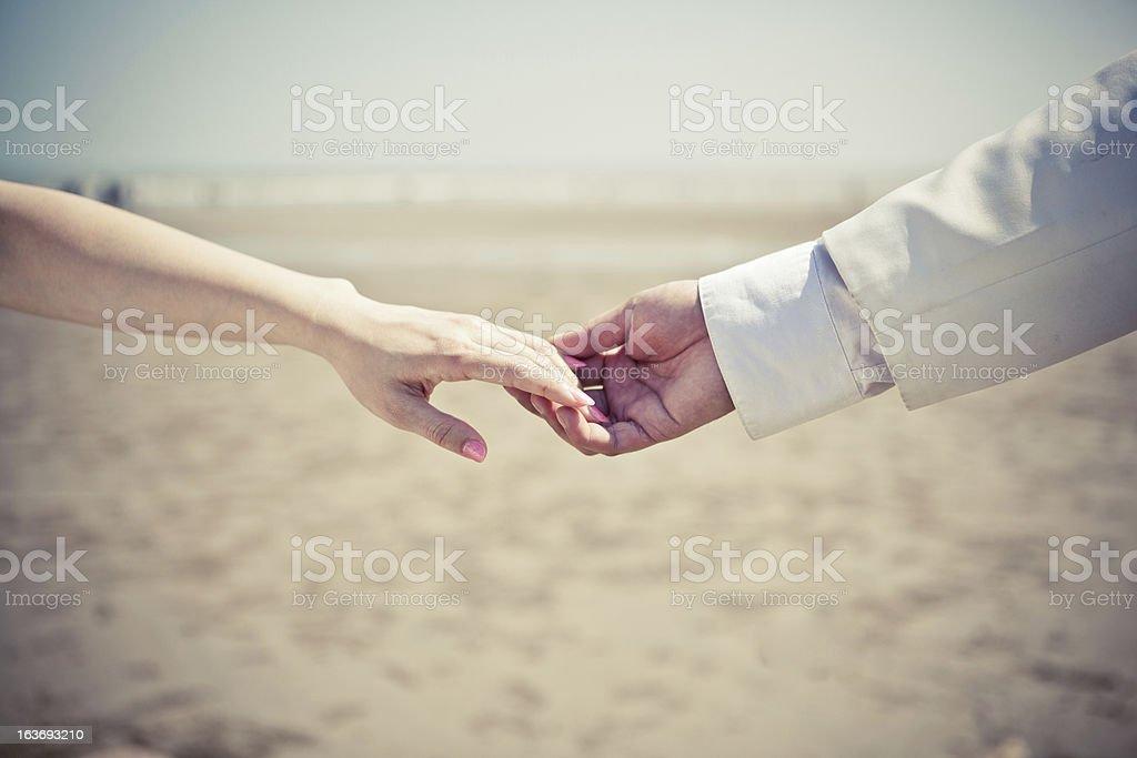 Beach,Loving Hands royalty-free stock photo