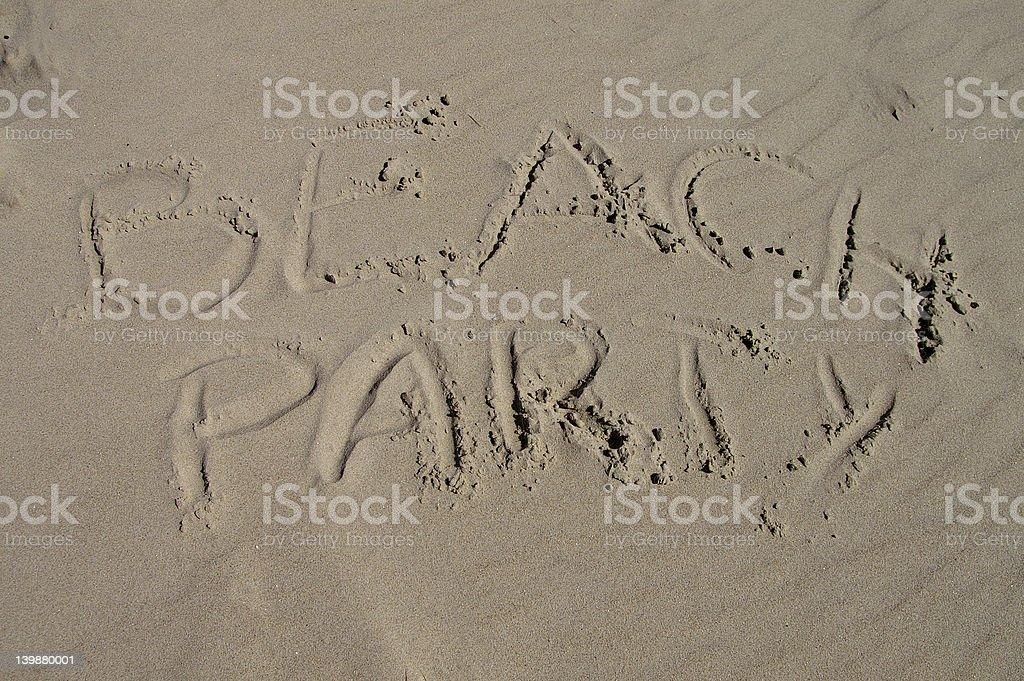 Beachparty royalty-free stock photo
