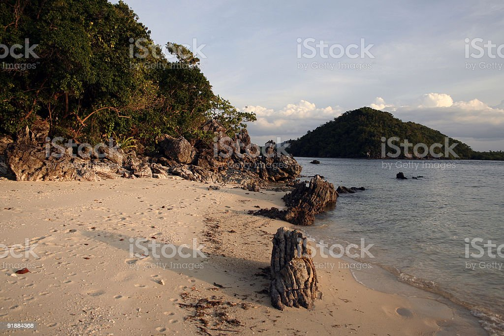 beachs end busuanga palawan  in the philippines royalty-free stock photo