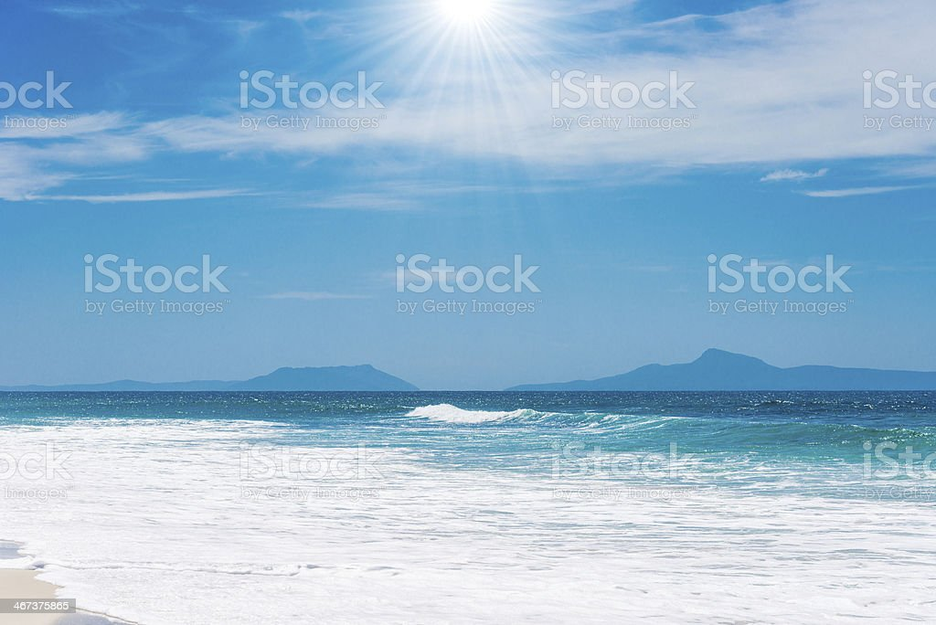 Cativante paisagem praiana foto royalty-free