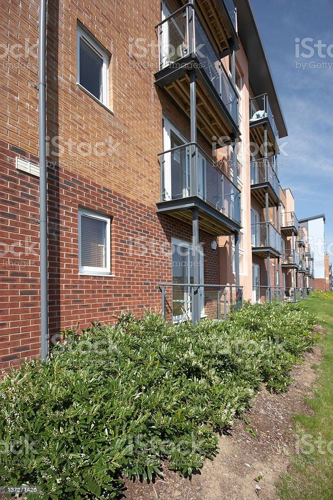 Beachside apartments stock photo