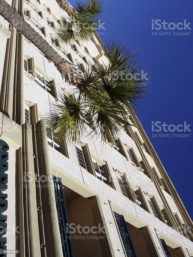 Beachside Hotel stock photo