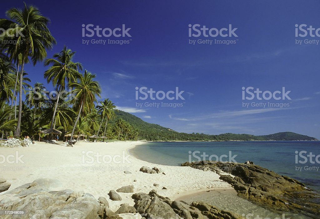 Beachside landscape of Chaweng Beach Koh Samui Thailand royalty-free stock photo