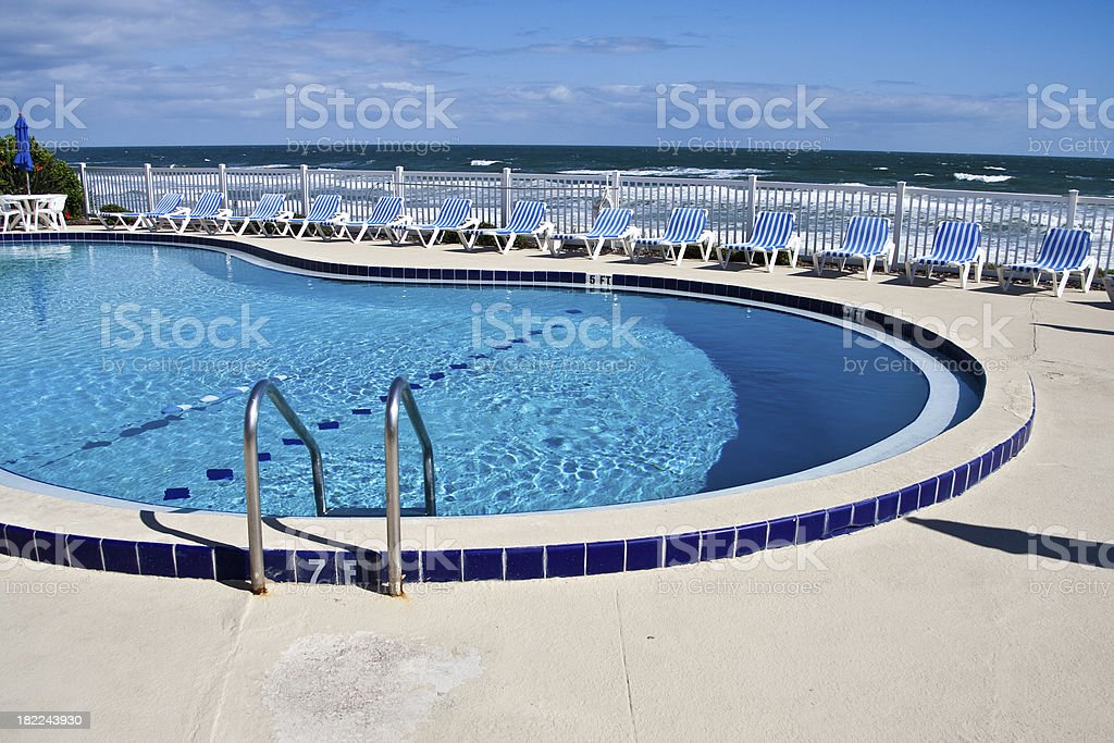 Beachside Pool in Daytona Beach royalty-free stock photo