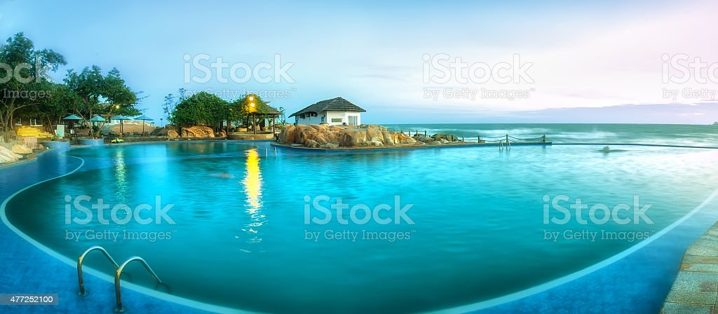 Beachside resort in Phan Thiet stock photo