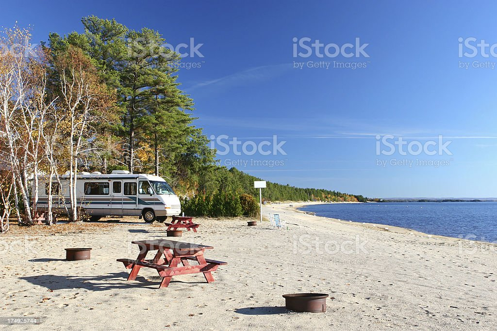 Beachside Summer RV Vacations royalty-free stock photo