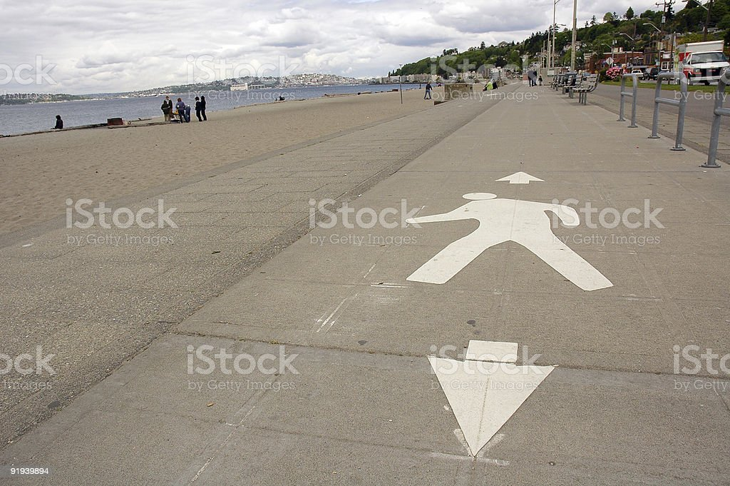 Beachside Walking Path stock photo