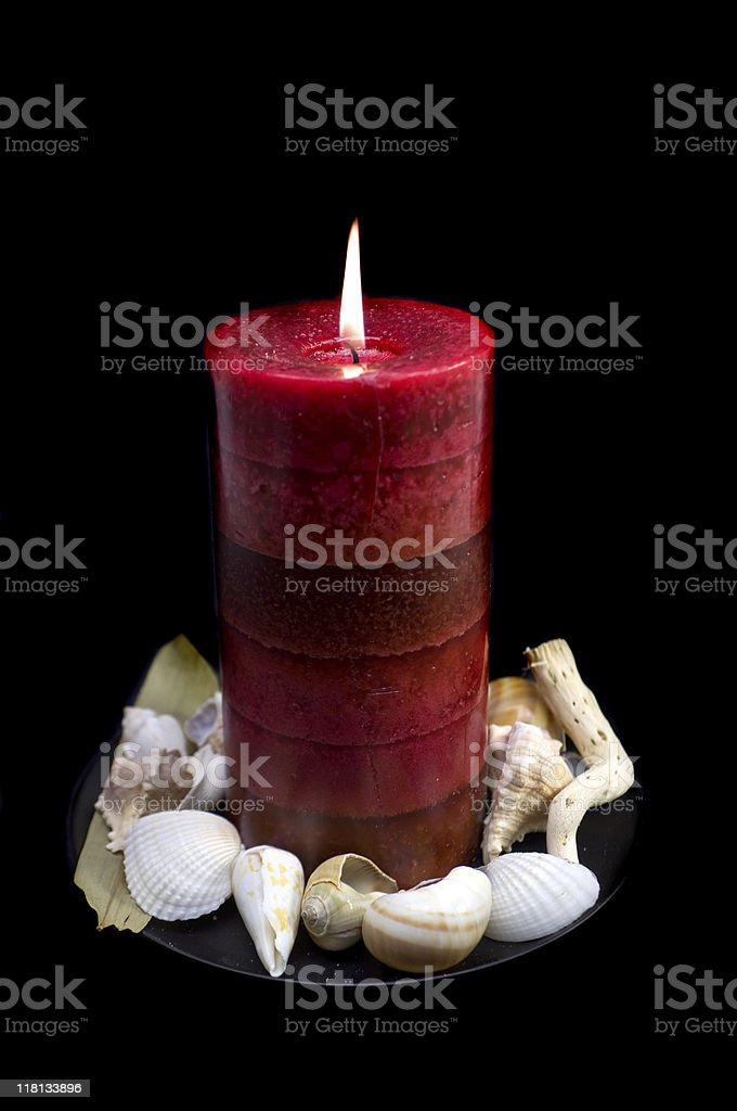 Beach-Themed Candle royalty-free stock photo