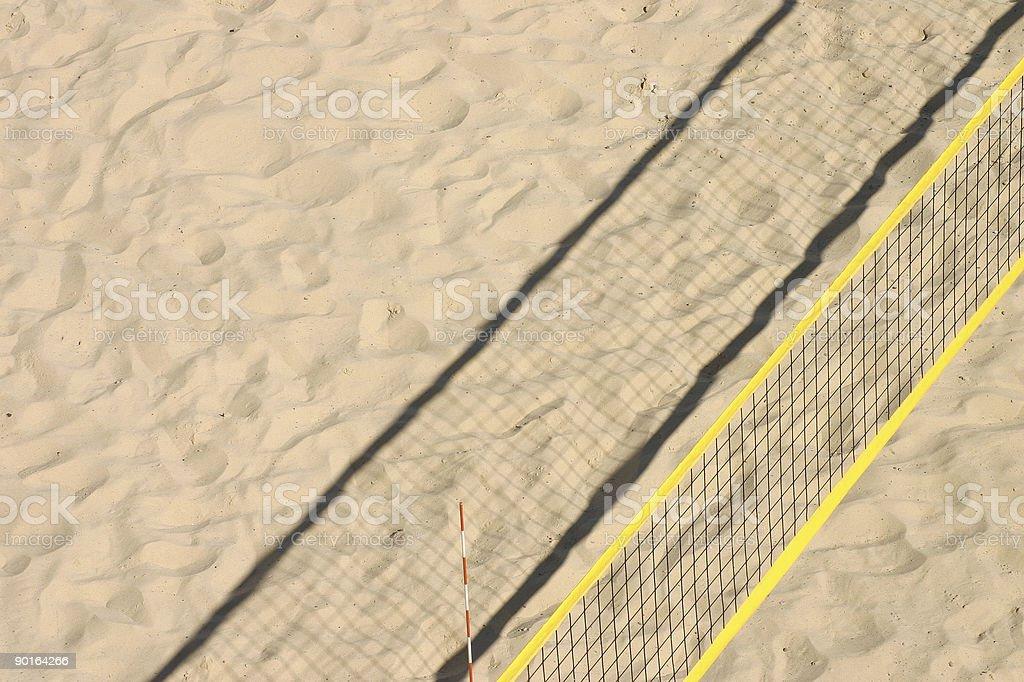 beachvolley court with yellow net royalty-free stock photo