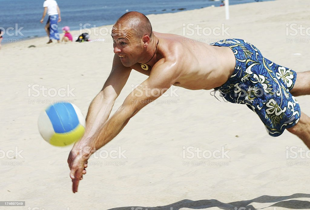 Beach-Volleyball royalty-free stock photo