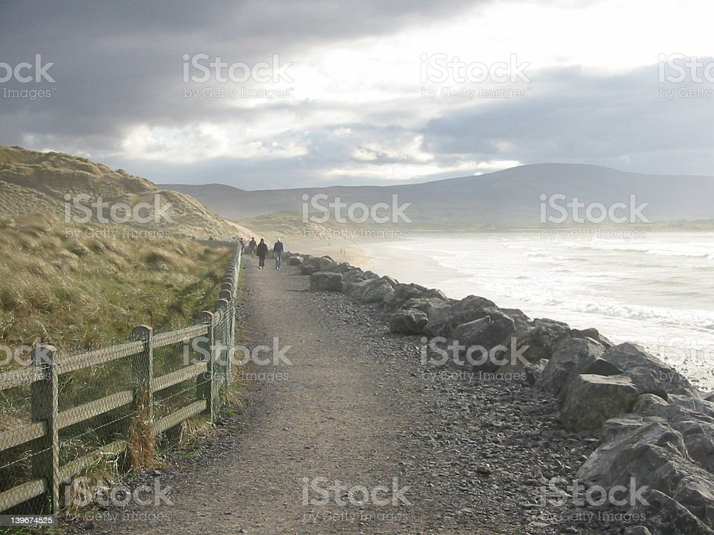 Beachwalk royalty-free stock photo
