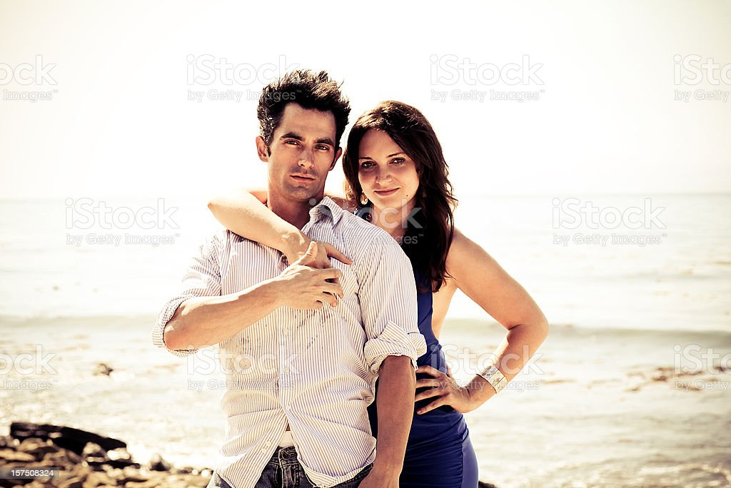beachy couple portraits royalty-free stock photo