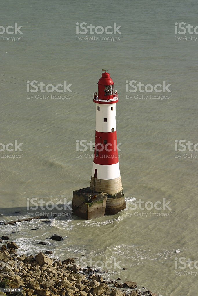 Beachy Head lighthouse, East Sussex, UK royalty-free stock photo
