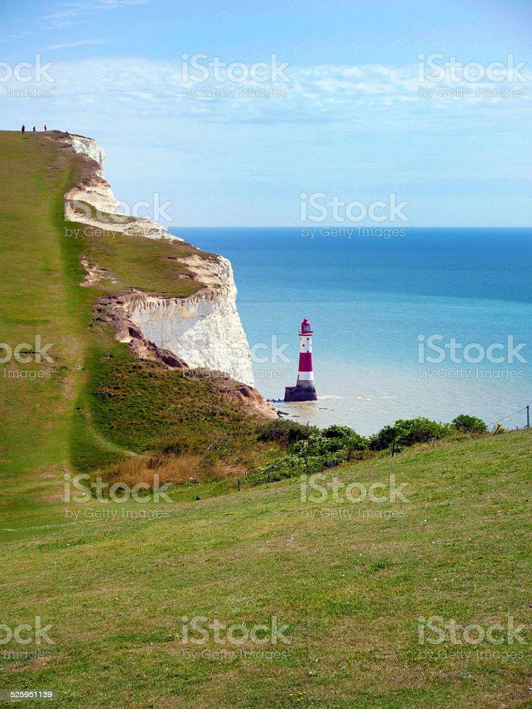 Beachy Head lighthouse near Eastbourne UK stock photo
