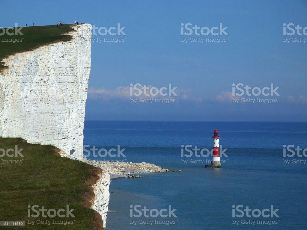 Beachy Head near Eastbourne stock photo