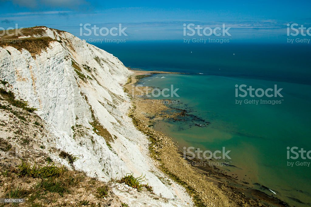 Beachy Head white cliffs stock photo