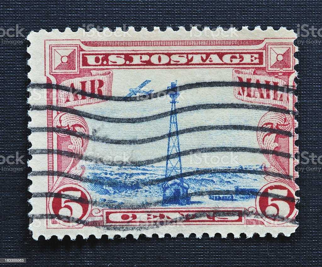 Beacon Airmail Stamp 1928 royalty-free stock photo