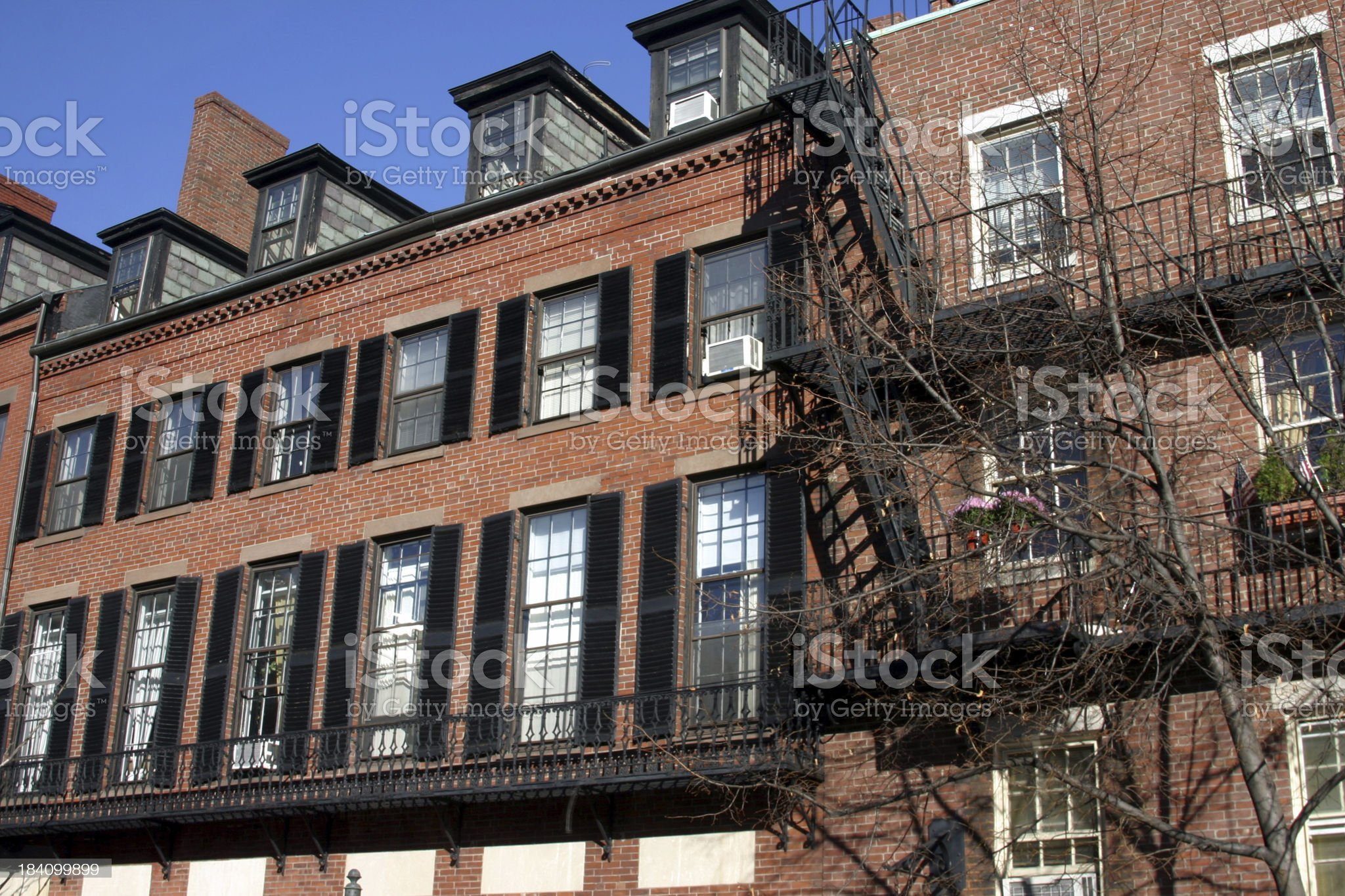 Beacon Hill Architecture royalty-free stock photo
