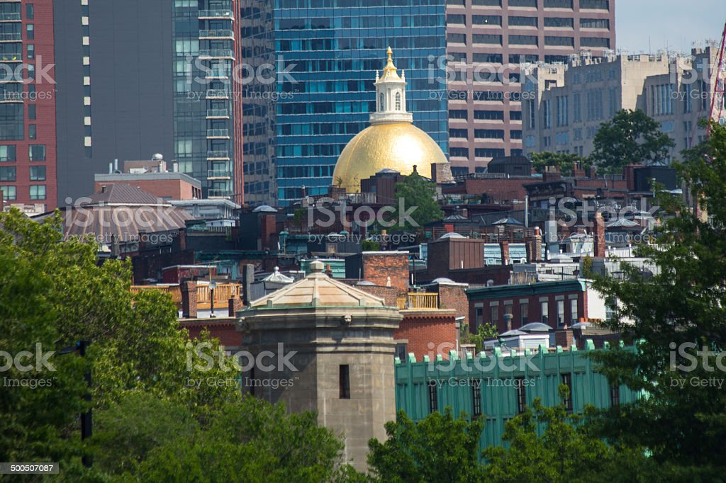 Beacon Hill from the River stock photo