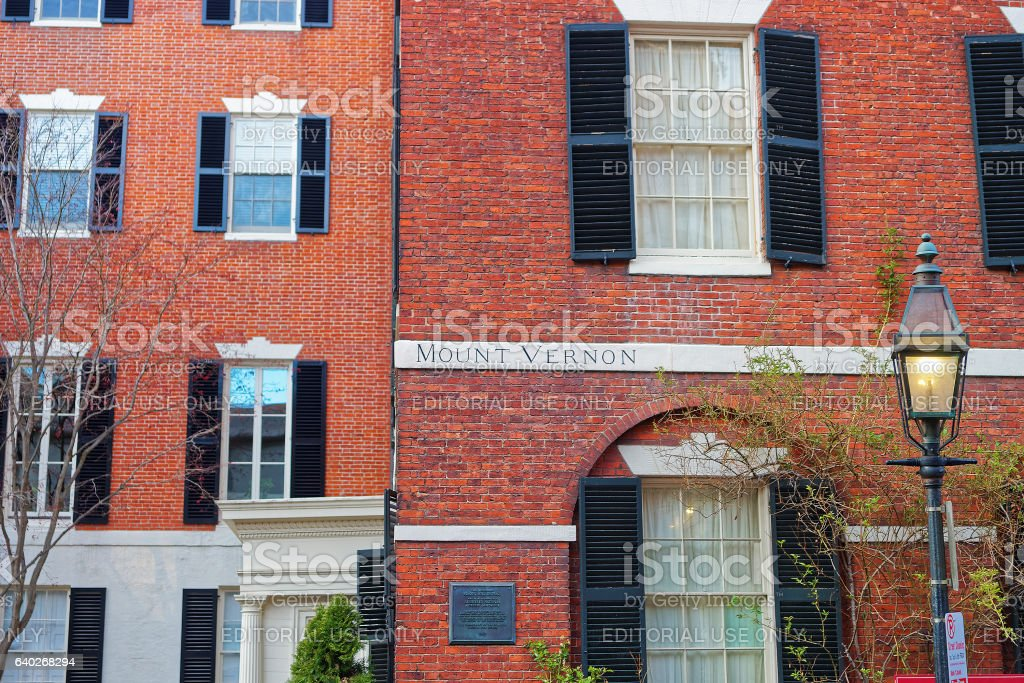 Beacon Hill neighborhood in downtown Boston stock photo