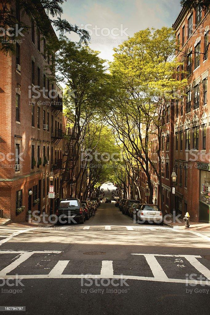 Beacon Hill neighbourhood royalty-free stock photo