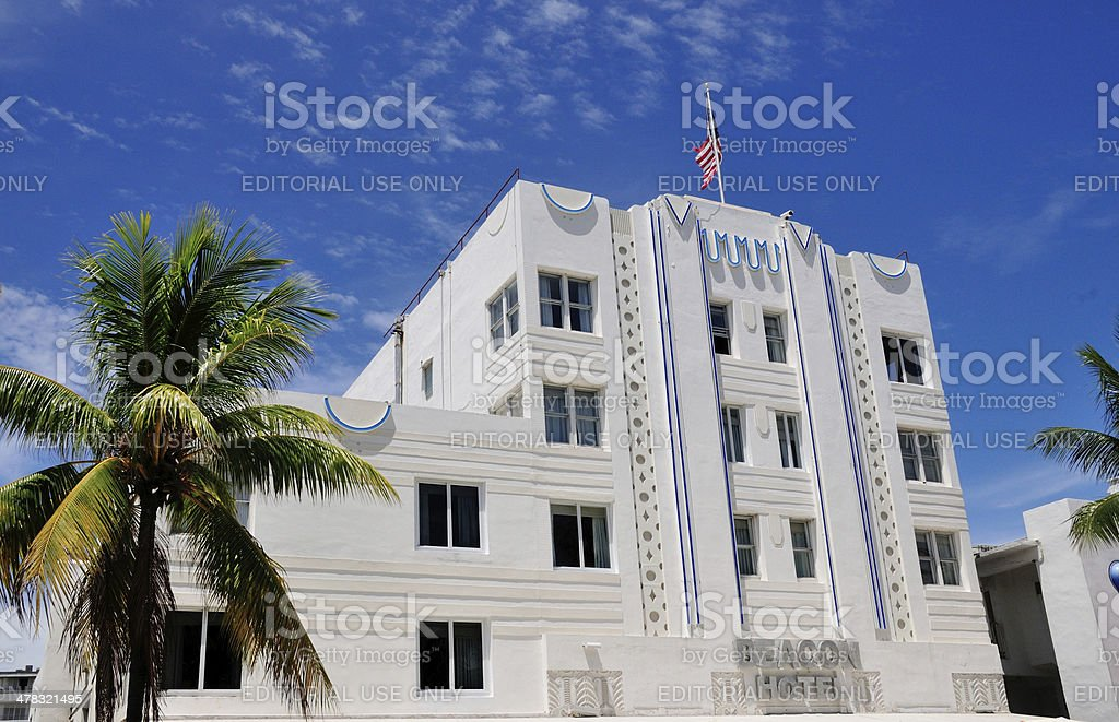 Beacon Hotel in South Beach stock photo