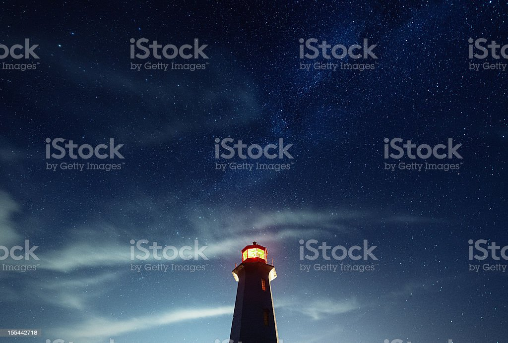 Beacon in the Night royalty-free stock photo