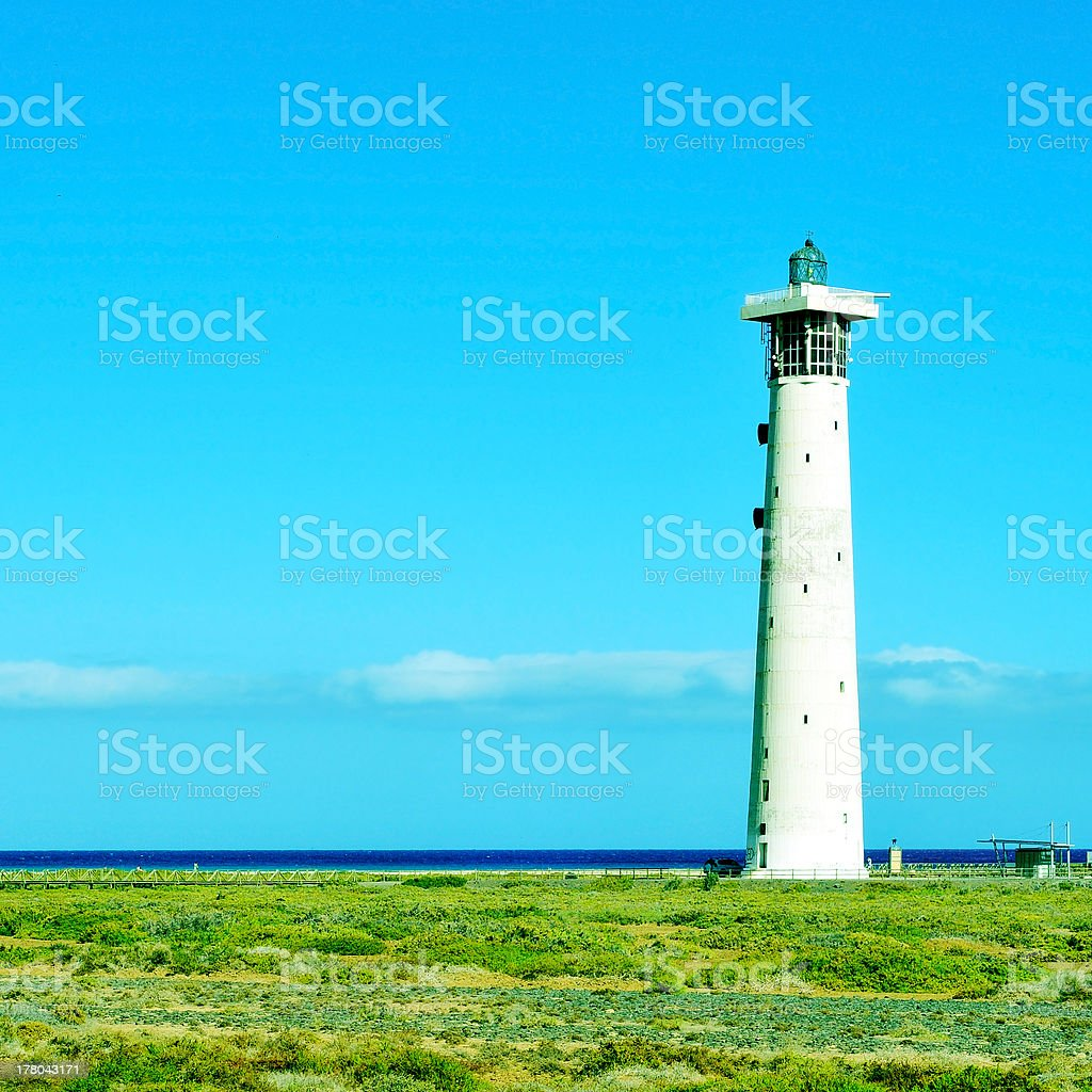 Beacon of Morro Jable in Fuerteventura, Canary Islands, Spain royalty-free stock photo