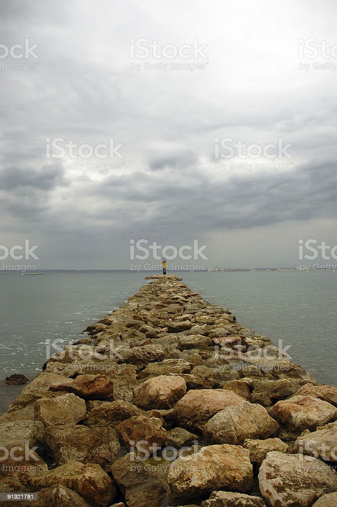 Beacon on a stormy day royalty-free stock photo