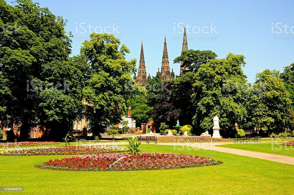 Beacon Park, Lichfield. stock photo