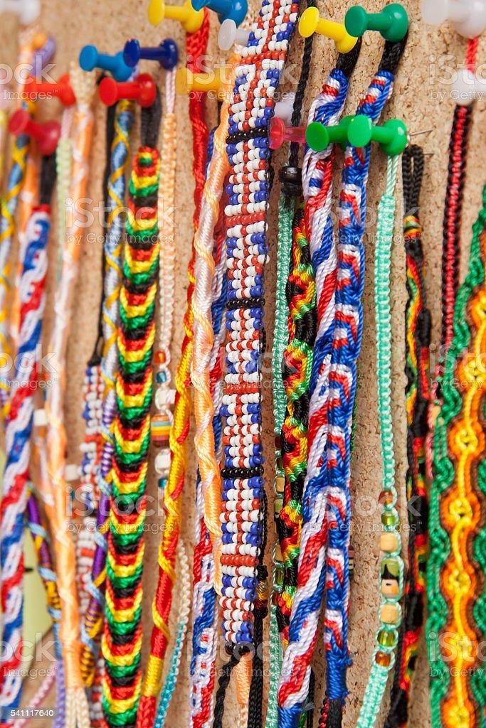 Bead bracelets stock photo