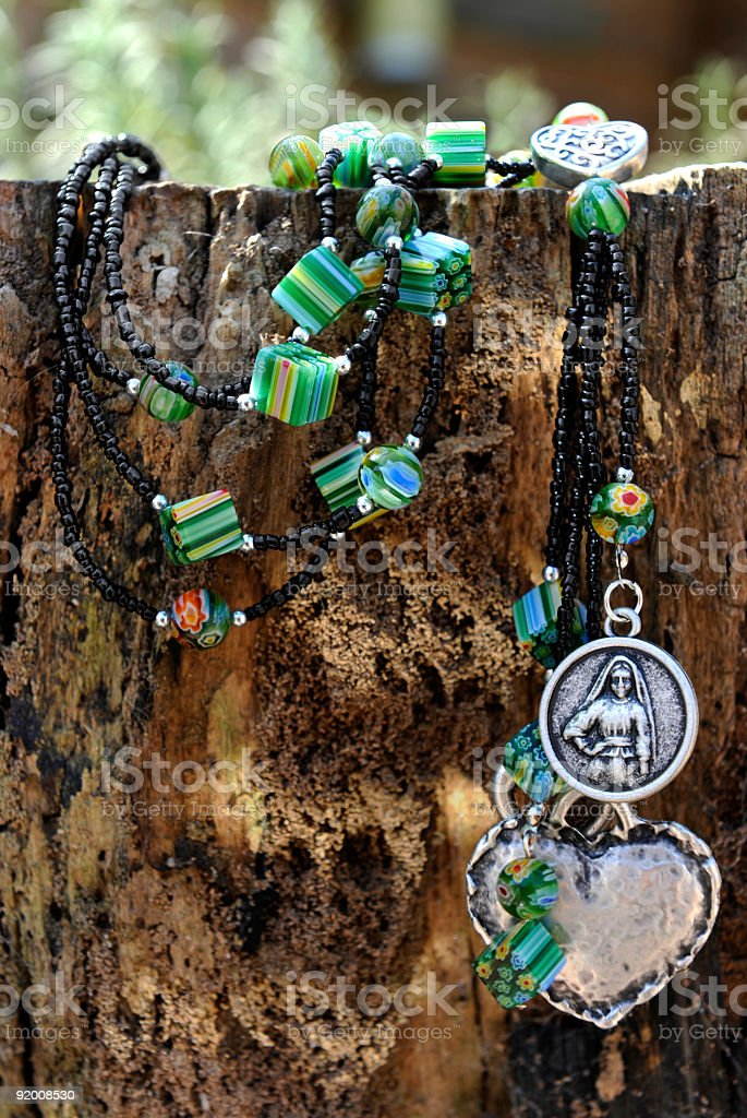 bead jewelry making as a hobby stock photo