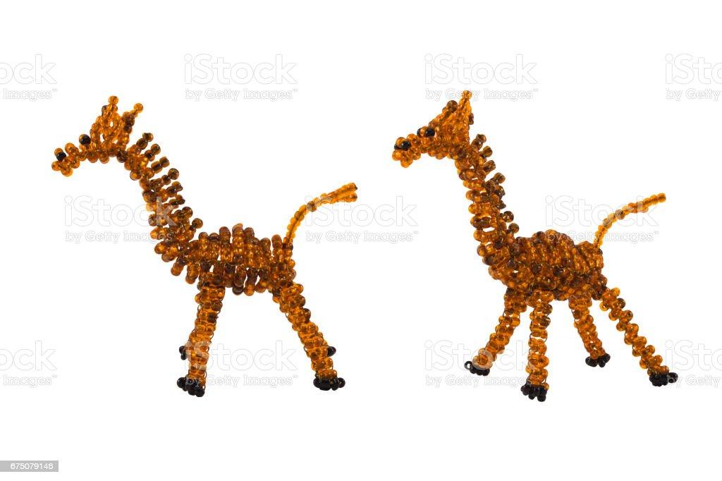 Beaded giraffe toy stock photo