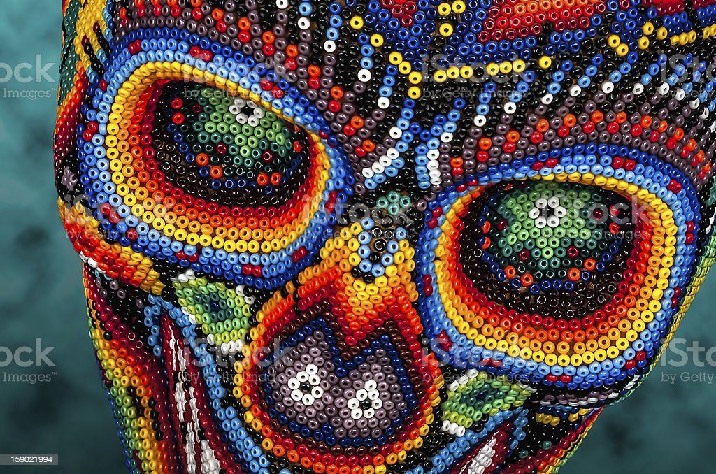 Beaded skull eyes stock photo