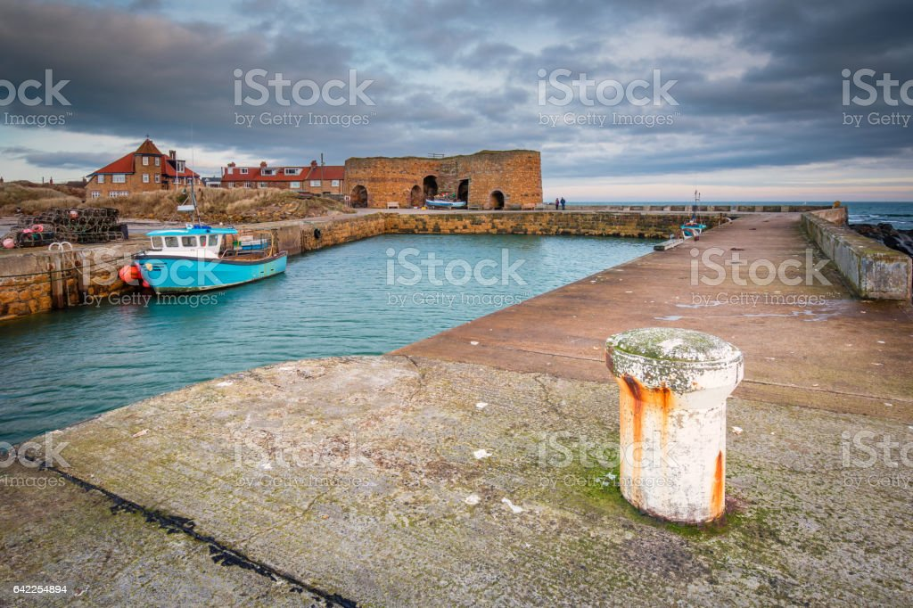 Beadnell Harbour and Lime Kilns stock photo