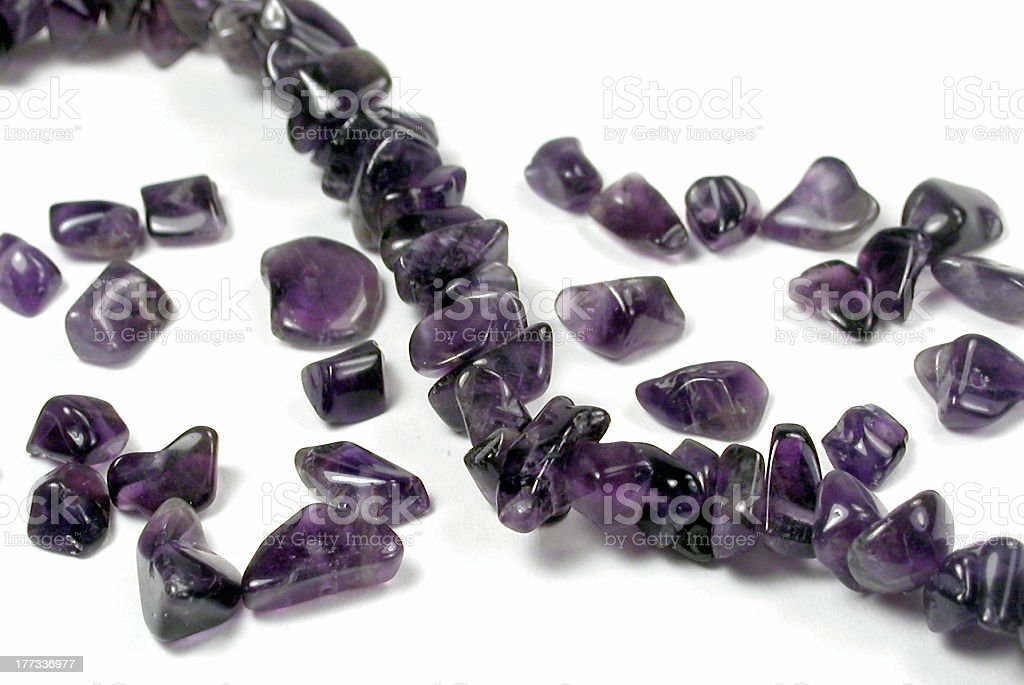 Beads: Amethyst Chips royalty-free stock photo