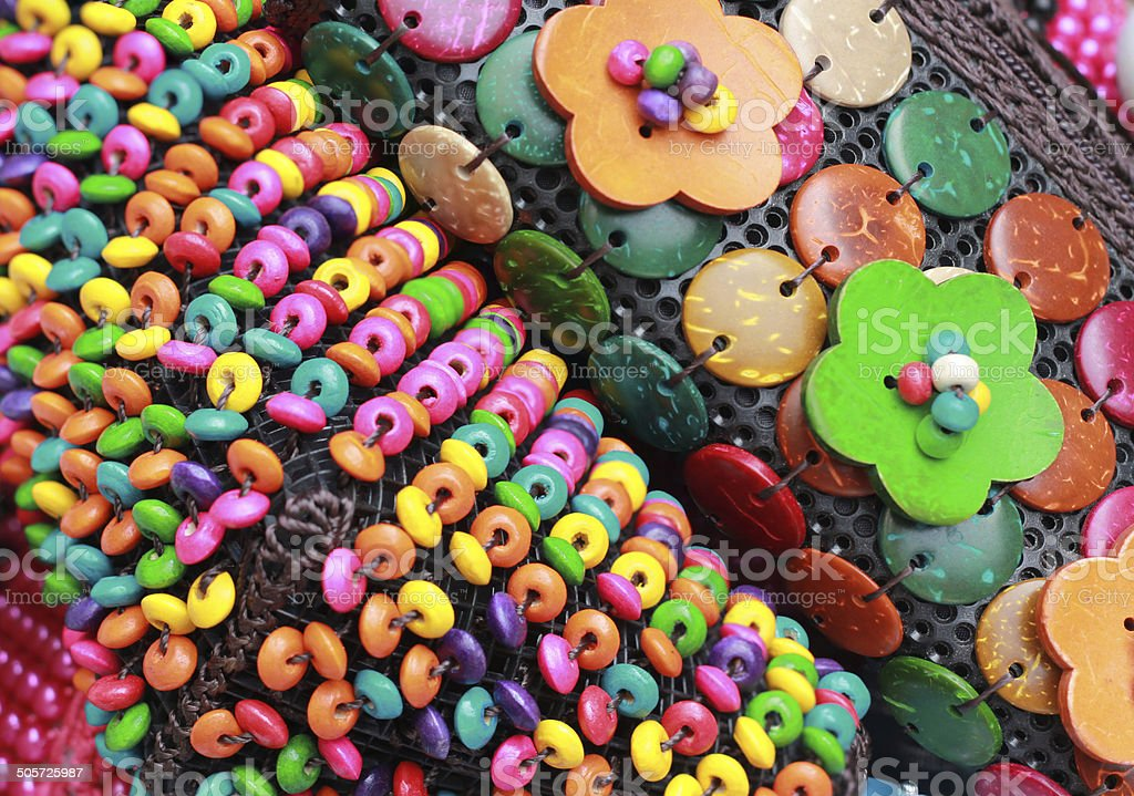 beads and buttons crafts stock photo