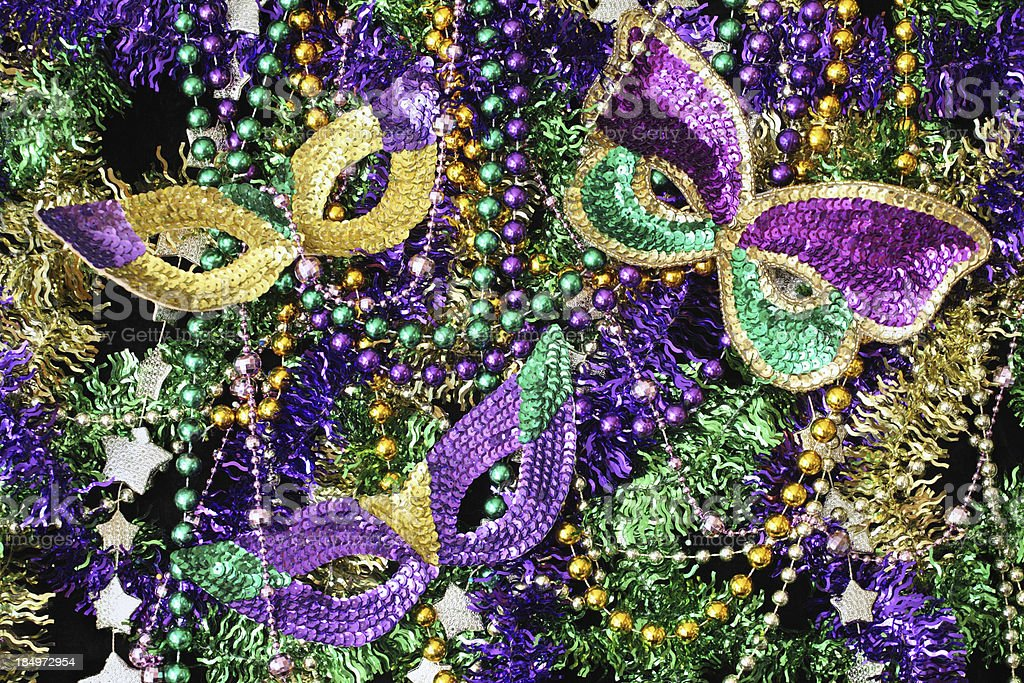 Beads and Mask Background stock photo