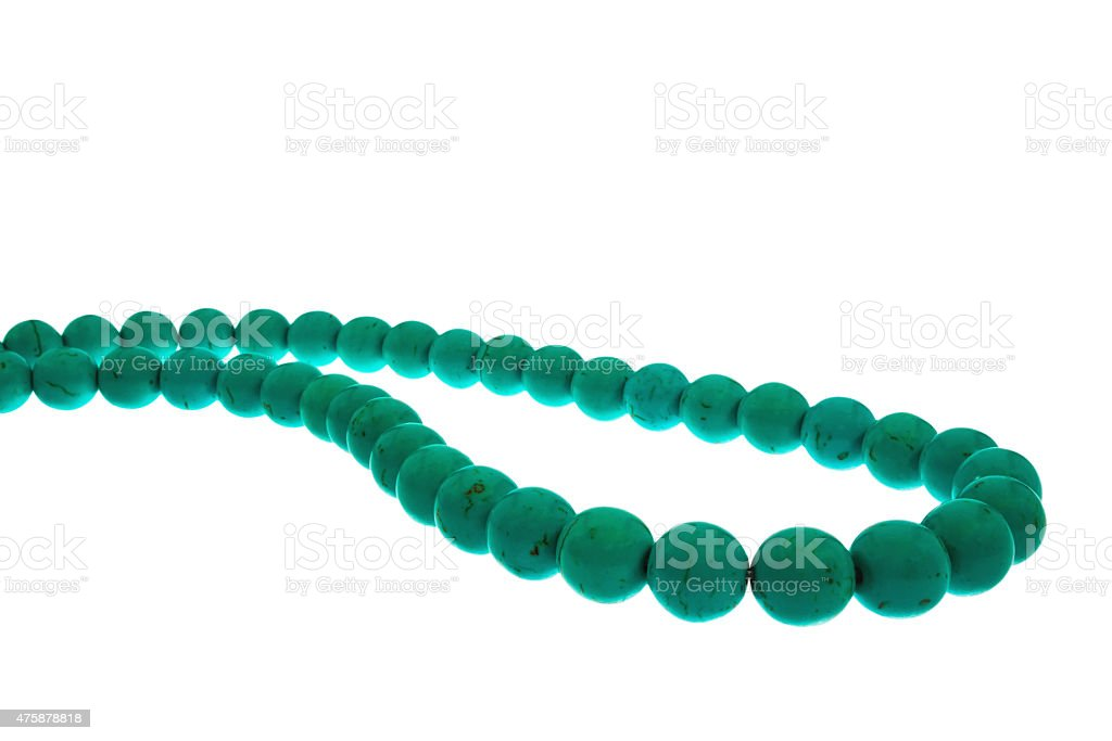 Beads are turquoise stock photo