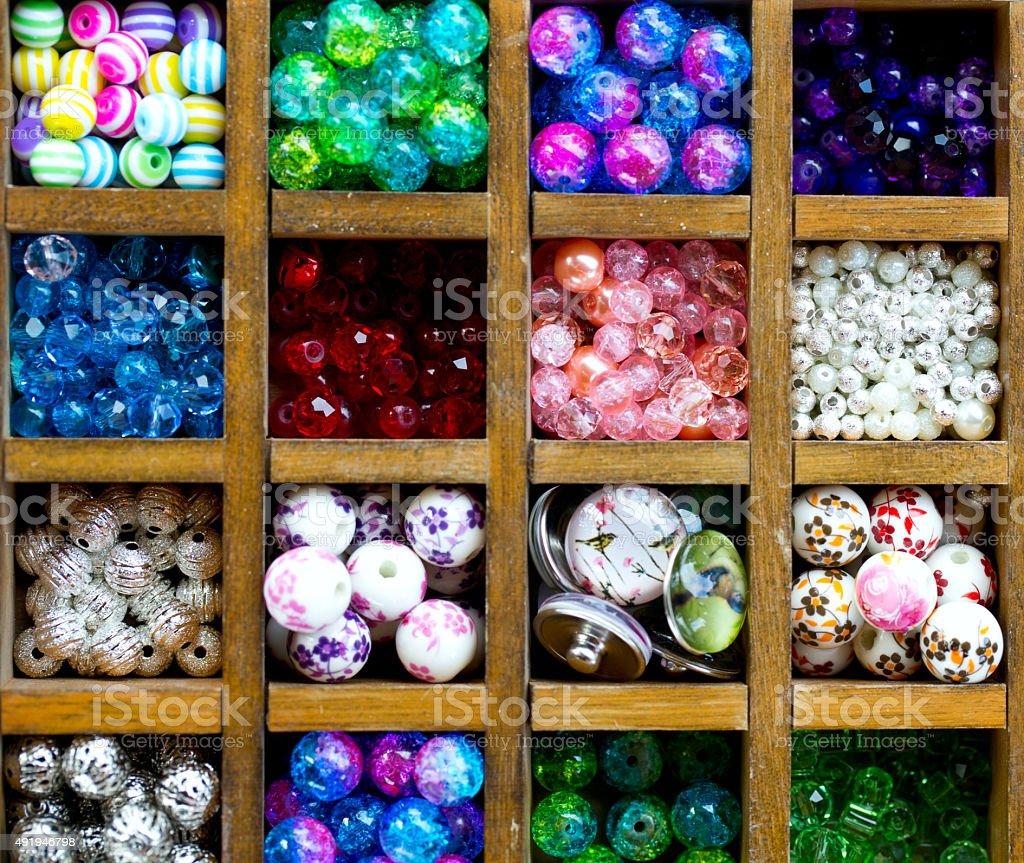 beads assortment stock photo