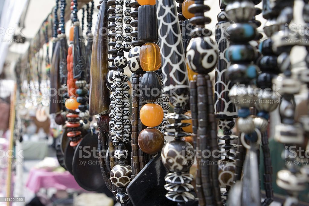 beads at the market royalty-free stock photo