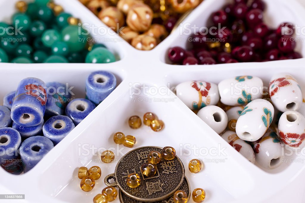 Beads for jewelry making royalty-free stock photo