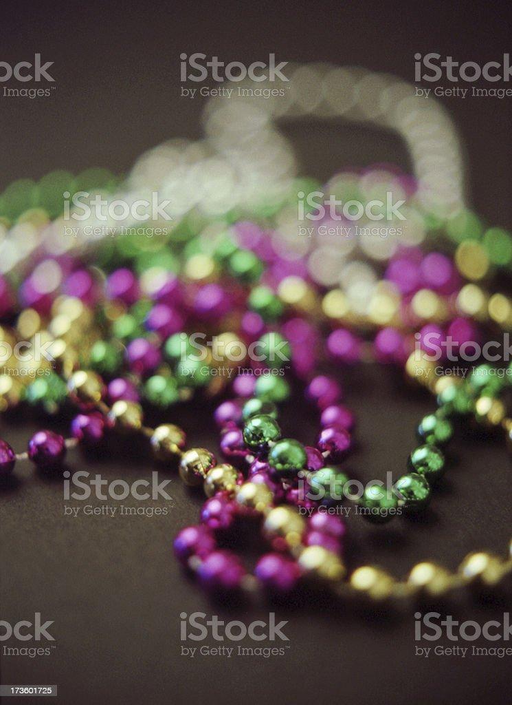 Beads For Mardi Gras stock photo