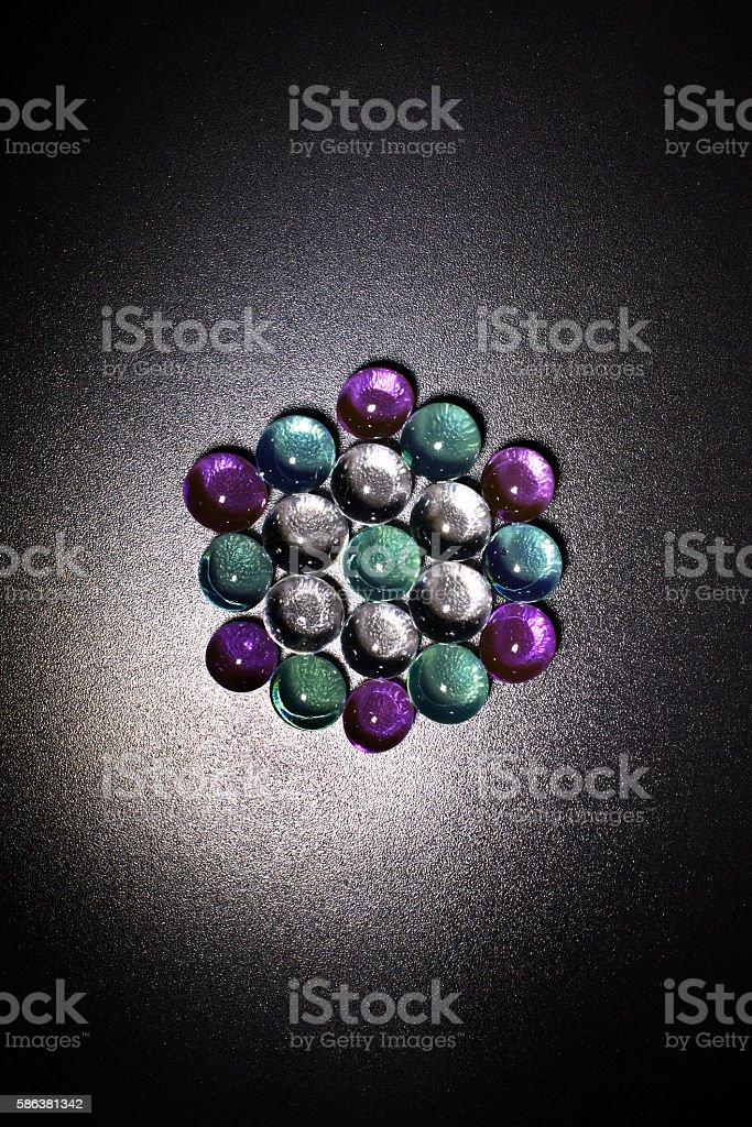 Beads in hexadecimal stock photo