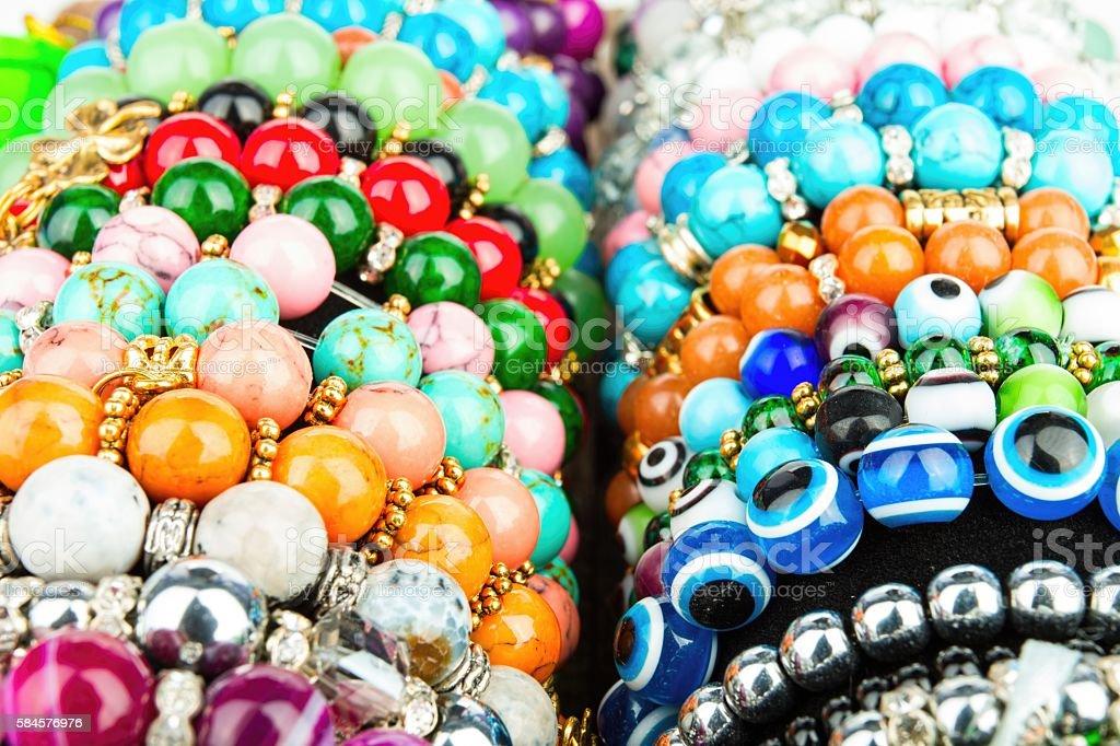 Beads jewelery. stock photo